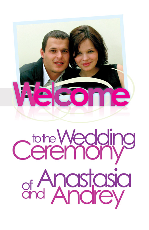 Ceremony poster for Andrey & Anastasia