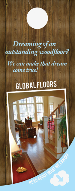 Global Floors Doorhanger (Front) by Vadimages