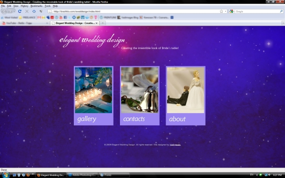 Elegant Wedding Design Website by Vadimages