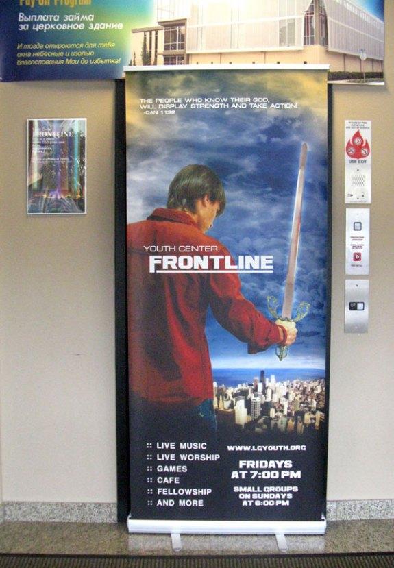 FRONTLINE Youth Center Banner