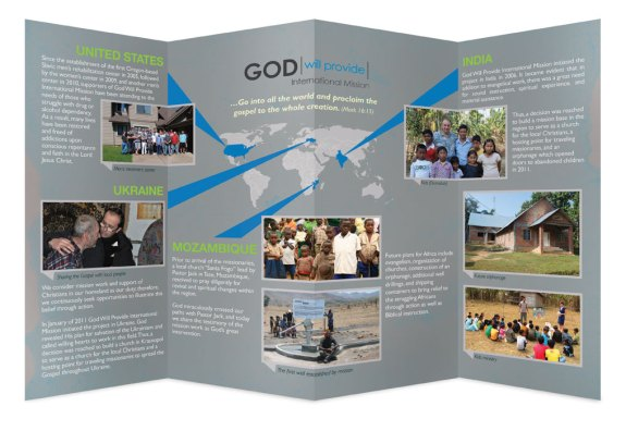 Brochure design for God Will Provide Mission by Vadimages