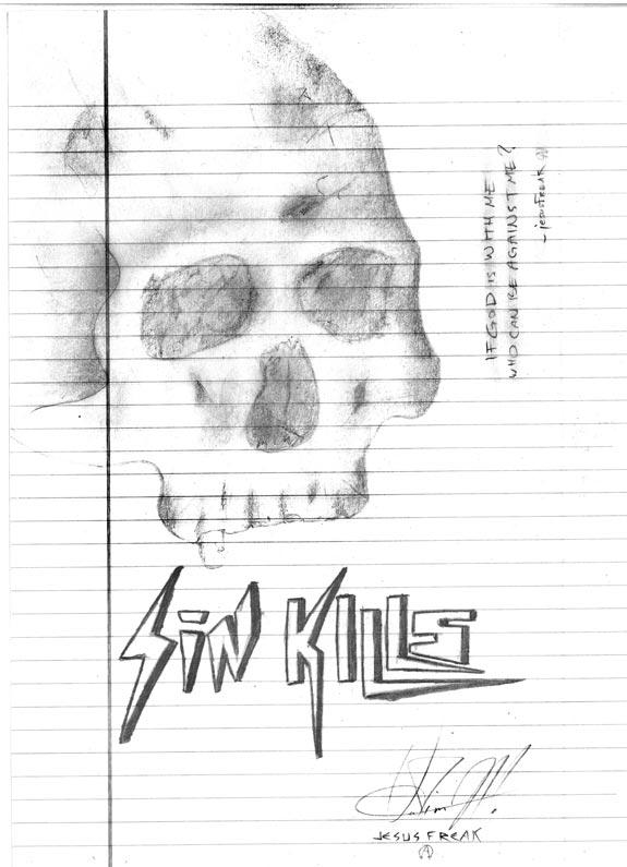 """""""Sin Kills"""" drawing by Vadim Makoyed"""