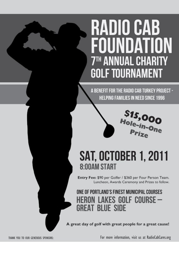 Radio Cab Foundation Gulf Tournament Poster by Vadimages