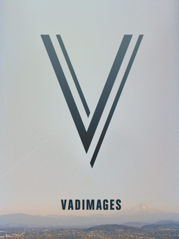 Vadimages logo above Mt. Hood