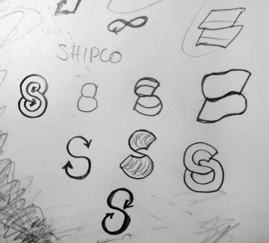 Shipco Transportation Logo Sketches by Vadimages