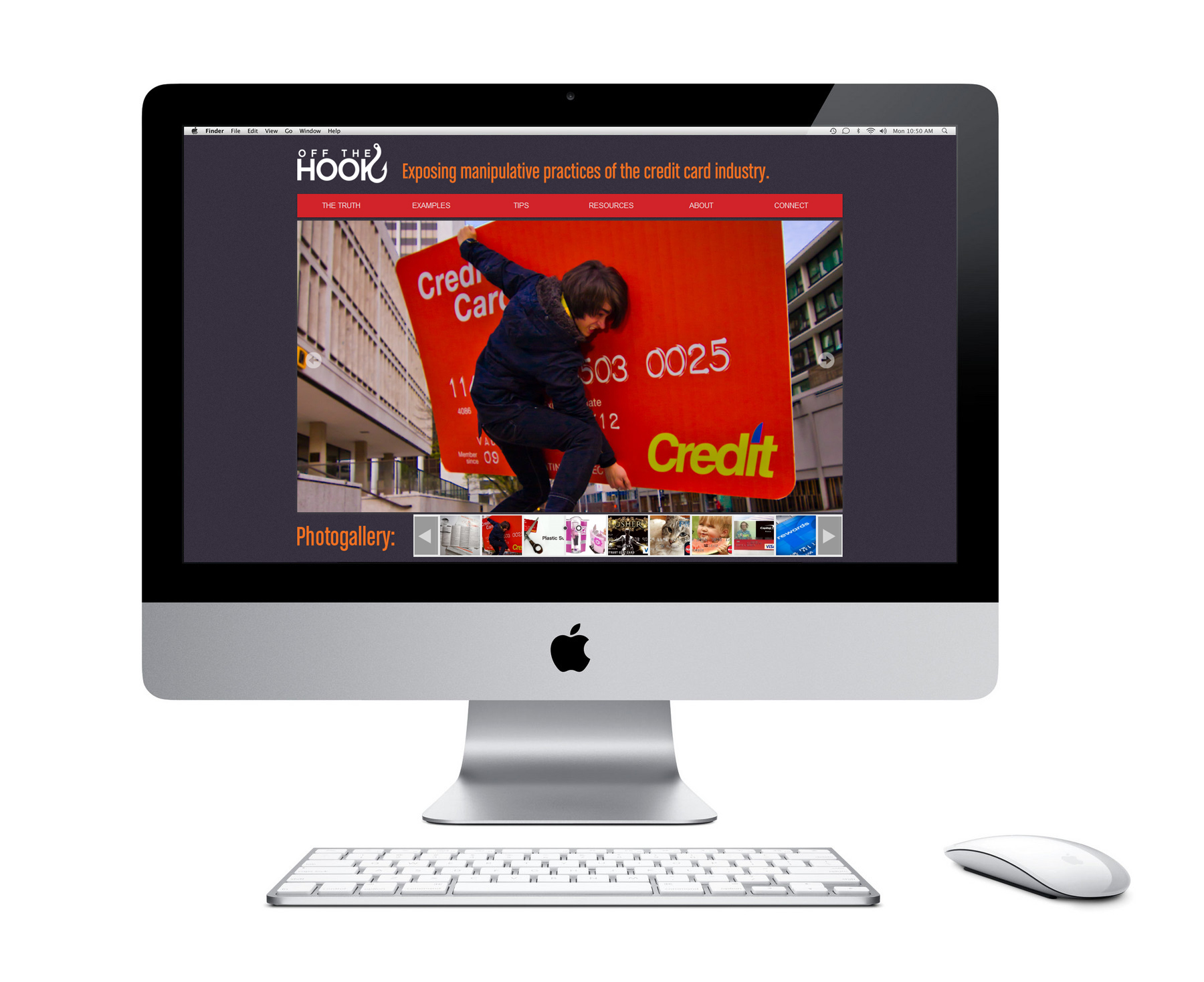 Get Off The Hook website design by Vadimages