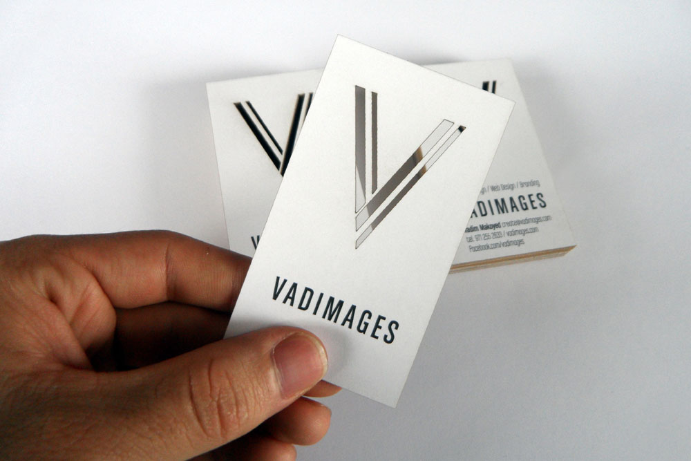 Laser cut business cards by Vadimages