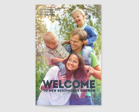 """Welcome To New Beginnings Church"" Informational Brochure by Vadimages"