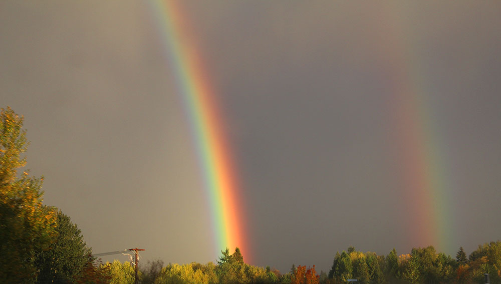 A Double Rainbow by Vadim Makoyed