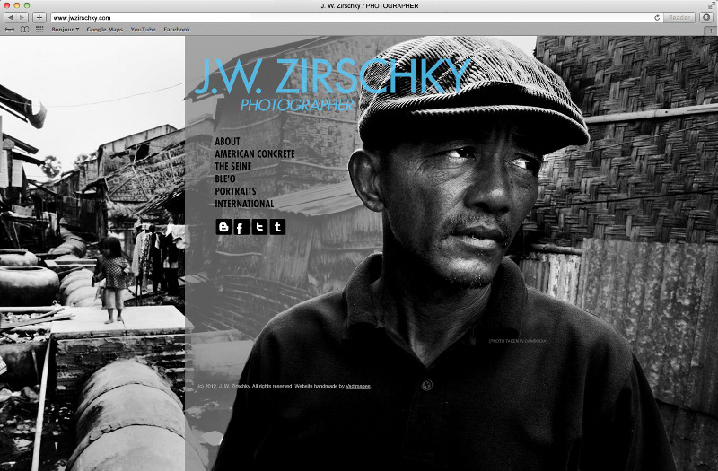 J. W. Zirschky Photography Website design by Vadimages