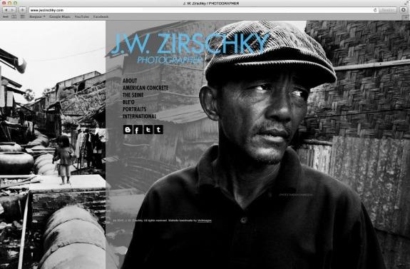 J. W. Zirschky Photography Website design by Vadimages