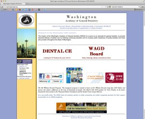 Washington Academy of General Dentistry website BEFORE