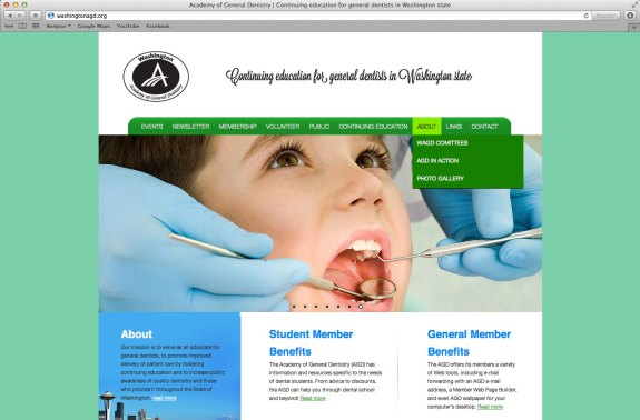 Washington Academy of General Dentistry website AFTER by Vadimages