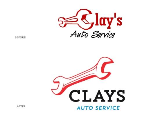 Clays Auto Service Rebranding